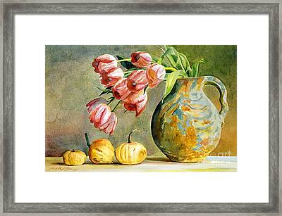 Tulips And Squash Framed Print
