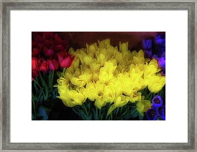 Tulips At Flower Stand Framed Print