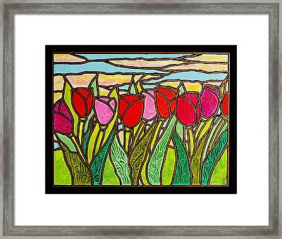 Tulips At Sunrise Framed Print by Jim Harris