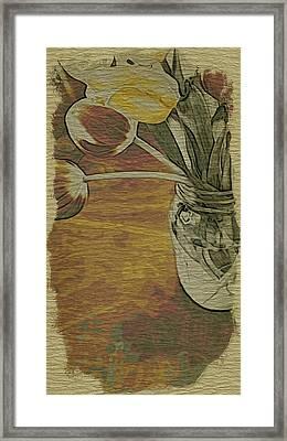 Tulips Bouquet Framed Print by Bonnie Bruno