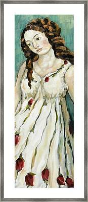 Tulips Framed Print by Carrie Joy Byrnes