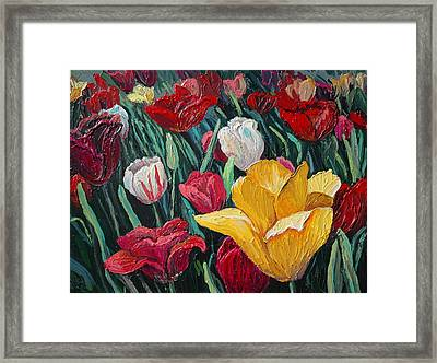 Tulips Framed Print by Cathy Fuchs-Holman