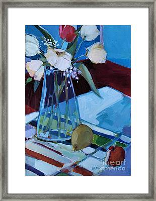 Framed Print featuring the painting Tulips by Diane Ursin