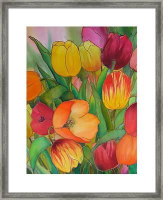 Tulips Framed Print by Evelyn Antonysen
