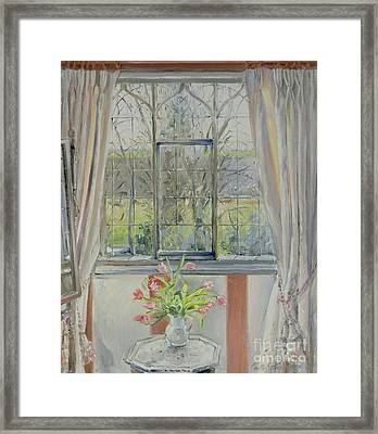 Tulips For A January Morning Framed Print by Timothy Easton