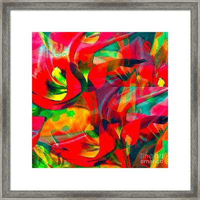 Tulips IIi Framed Print by Loko Suederdiek