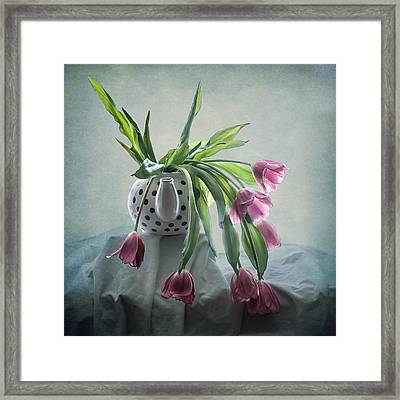 Tulips In A Teapot  Framed Print