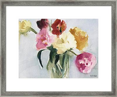 Tulips In My Studio Framed Print