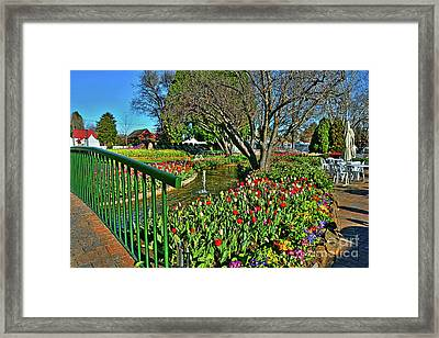 Tulips In The Park By Kaye Menner Framed Print
