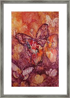 Framed Print featuring the painting Tulips In Transformation by Kim Fournier