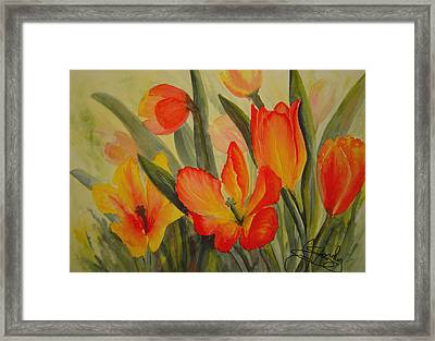 Tulips Framed Print by Joanne Smoley