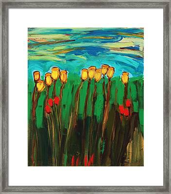 Tulips Framed Print by Maggis Art