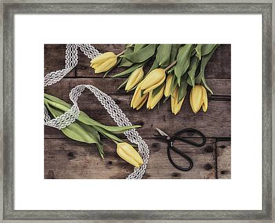 Framed Print featuring the photograph Tulips Of Spring by Kim Hojnacki