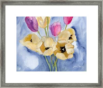 Tulips On Mom's Dining Table Framed Print