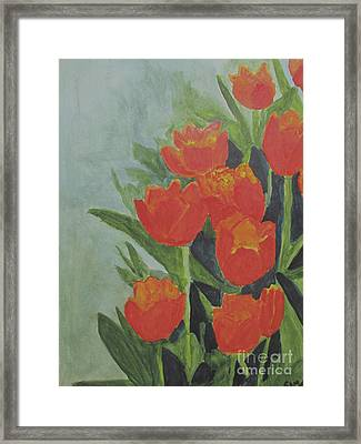 Framed Print featuring the painting Tulips by Sandy McIntire