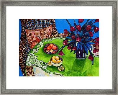 Tulips Sea Side Framed Print by Patti Schermerhorn