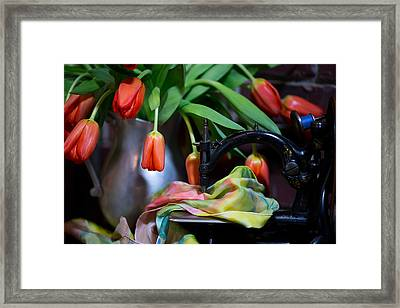 Framed Print featuring the photograph Tulips by Sharon Jones