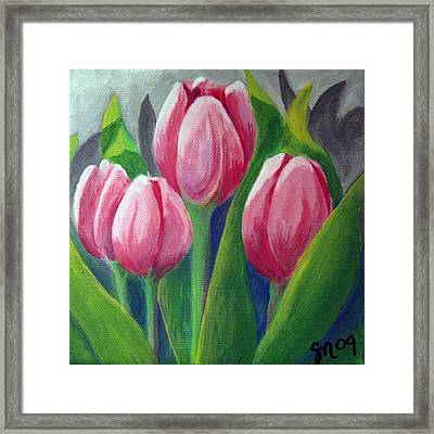 Tulips Framed Print by Sharon Marcella Marston