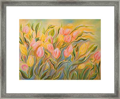 Tulips Framed Print by Theresa Marie Johnson