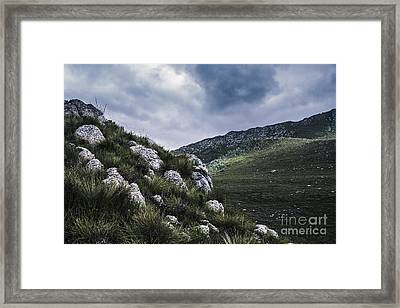 Tullah And Queenstown Rock Valley Landscape  Framed Print by Jorgo Photography - Wall Art Gallery