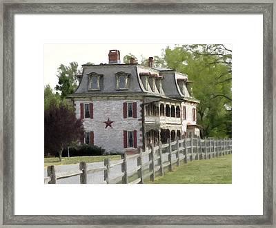 Framed Print featuring the photograph Tulpehocken Manor Plantation Historic Site  by David Dehner