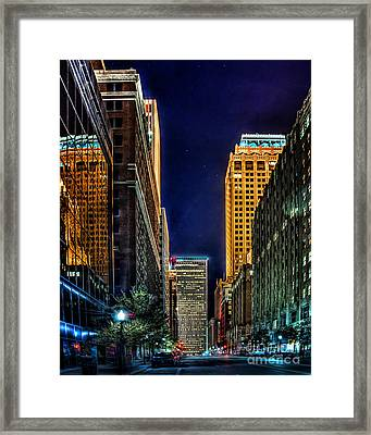 Tulsa Nightlife Framed Print by Tamyra Ayles