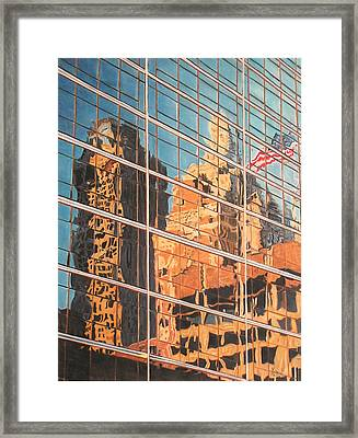 Tulsa Relections 2 Framed Print by Kenny King