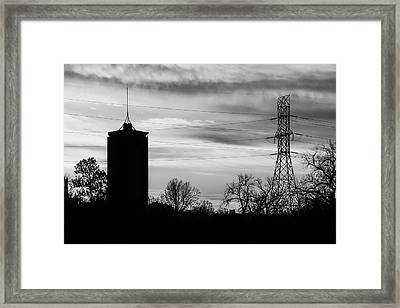 Tulsa Silhouettes In Black And White Framed Print by Gregory Ballos
