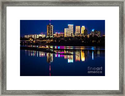 Tulsa Skyline At Twilight Framed Print by Tamyra Ayles