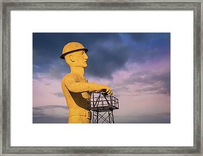 Tulsa's Golden Driller Up Close - Tulsa Oklahoma Art Framed Print by Gregory Ballos