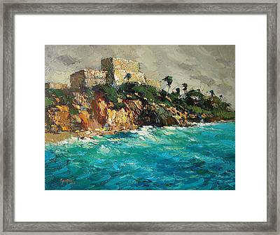Tulum. Mexico Framed Print