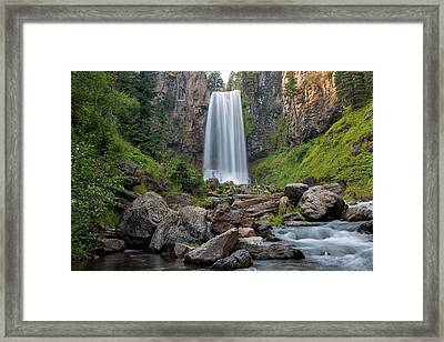 Tumalo Falls Closeup Framed Print by David Gn