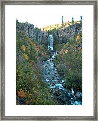 Tumalo Falls Framed Print by Janet  Hall