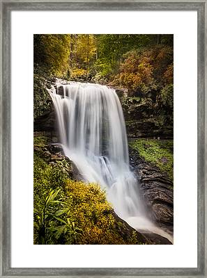 Tumbling Waters At Dry Falls Framed Print by Debra and Dave Vanderlaan