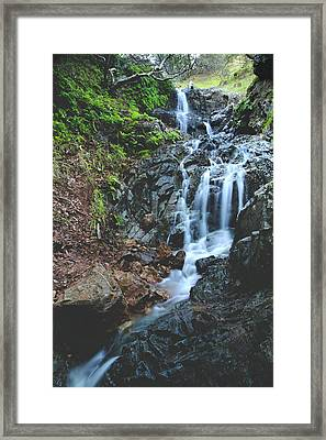Framed Print featuring the photograph Tumbling Down by Laurie Search