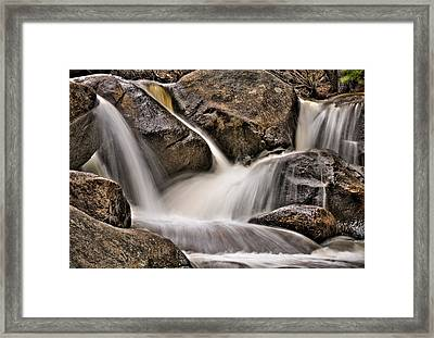 Tumbling River Redux Framed Print by Kevin Munro