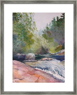 Tumbling Waters  Framed Print by Debbie Homewood
