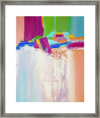 Framed Print featuring the painting Tumbling Waters by Irene Hurdle