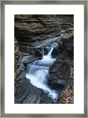 Tumbling Waters Framed Print by Stephen Stookey