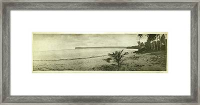 Framed Print featuring the photograph Tumon Bay Guam by eGuam Panoramic Photo