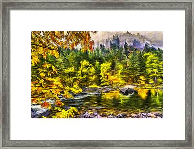 Tumwater Autumn Framed Print
