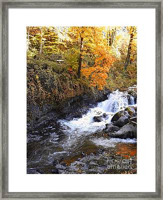 Tumwater Falls In The Autumn Framed Print