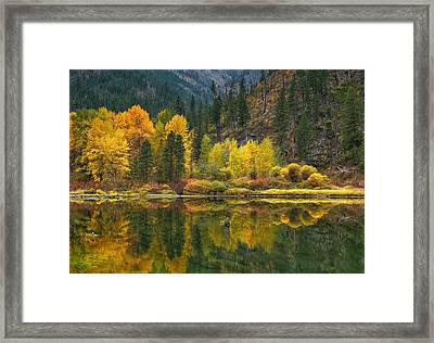 Tumwater Reflections Framed Print by Lynn Hopwood