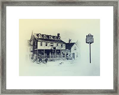 Tun Tavern - Philadelphia - Birthplace Of The Marine Corps Framed Print by Bill Cannon