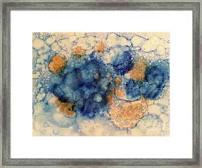 Framed Print featuring the painting Tundra by Denise Tomasura