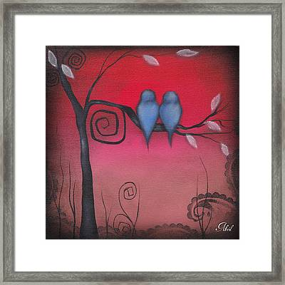 Tuned Into Each Other Framed Print