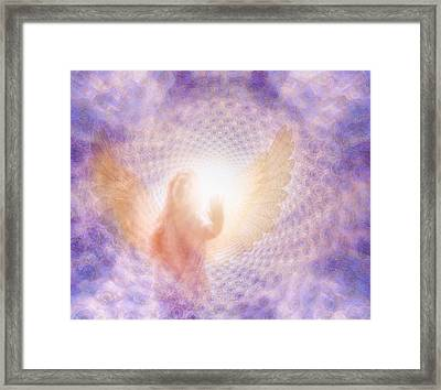 Framed Print featuring the painting Tunel Of Light by Robby Donaghey