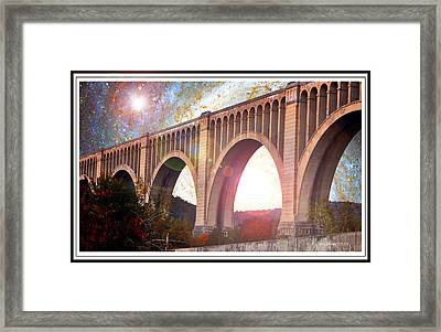Tunkhannock Viaduct, Nicholson Bridge, Starry Night Fantasy Framed Print