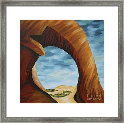 Tunnel Arch Painting Framed Print by Christiane Schulze Art And Photography