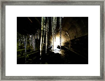 Tunnel Icicles Framed Print